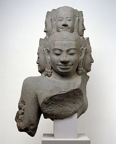 Bust of Hevajra, Angkor period late 12th–early 13th century, Cambodia