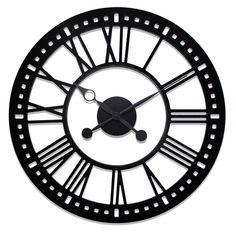 "Oversized 38"" Skeleton Tower Wall Clock"