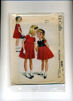 Vintage SEWING PATTERN McCall's 1958 Helen Lee GIRLS' TRAPEZE DRESS and JACKET 8