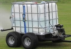These arena watering systems damp down the riding school where dust can be a problem for the horse and riders. Trailer Diy, Small Trailer, Trailer Build, Tractor Accessories, Atv Accessories, Kubota Compact Tractor, Utv Trailers, Horse Arena, Small Tractors