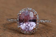 Lavender Sapphire Engagement Ring -- I'm not hinting, I'm just saying I think this is lovely.