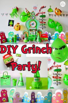Grinch 2018 diy birthday christmas party crafts cake doctor seuss crafts decoration gift ideas kids Best Picture For christmas illustration For Your Taste You a Grinch Party, Grinch Christmas Party, Christmas Birthday, Kids Christmas, Christmas Crafts, Grinch Cake, Kindergarten Christmas, Christmas Parties, Grinch Christmas Decorations
