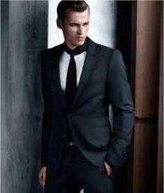 jacket+pants+tie Suits & Blazers Amicable Black Velvet Tuxedos For Men With Orange Pants Handsome Mens Wedding Tuxedos Designer Mens Suits