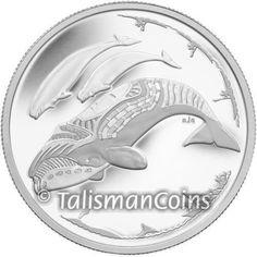 2013 South Pole 50 cents Killer Whale Orca animal wildlife bimetallic coin