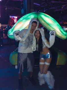 Rave couple winter rave outfit
