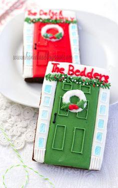 Haniela's - Personalized Christmas door cookies tutorial