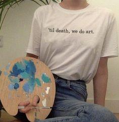 Art Hoe Aesthetic, Aesthetic Painting, Aesthetic Fashion, Aesthetic Clothes, Aesthetic Outfit, Aesthetic Drawing, Aesthetic Shirts, Death Aesthetic, Aesthetic Bedroom