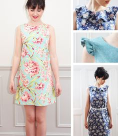 Ultimate shift dress pattern by Sew Over It - like the frilled version
