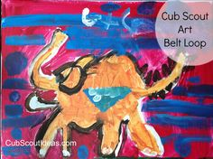 If you aren't an artist, you don't have to be intimidated by the Cub Scout Art Belt Loop!