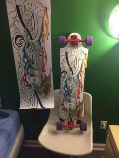 How to Make a Homemade Longboard With Vinyl Print : 6 Steps (with Pictures) - Instructables Longboard Shop, Best Longboard, Longboard Design, Longboard Decks, Skateboard Design, Skateboard Girl, Skates, Custom Skateboards, Snowboard Girl