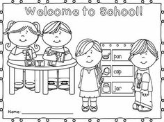 back to school coloring sheet for k 2nd grades - First Day Of Preschool Coloring Pages