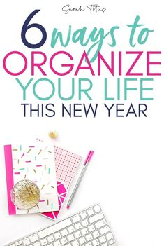6 Ways to organize your life in the new year. These tips will help you organize your home, your time, your meals, and your budget! Learn how to be more organized this year! Organize Your Life, Organizing Your Home, Organizing Ideas, How To Be More Organized, Getting Organized, Budget Organization, Time Management Tips, Learning To Be, Business Tips