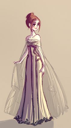Art of Miranda Yeo — dress sketch based on this picture