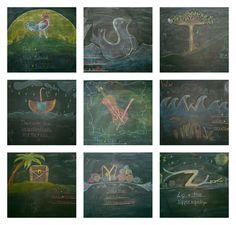 star haus: Home School- Alphabet on the Chalkboard