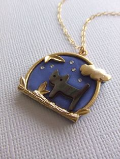 Midnight Cat necklace