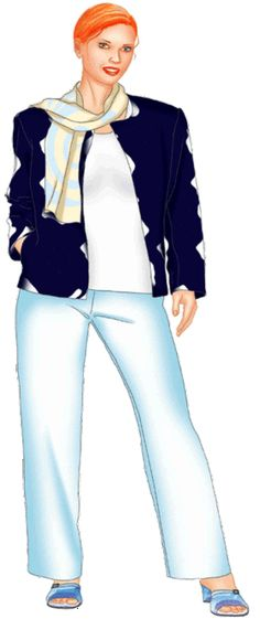preview - #5507 (XXXL) Jacket with rounded neckline