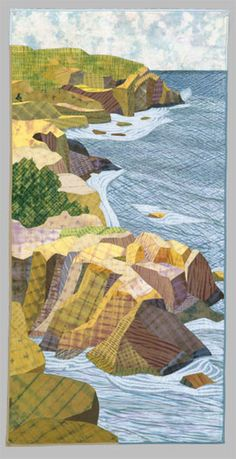 Blackhead From Whitehead, by carol anne grotrian. Wonderful use of fabric!