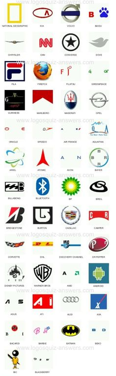 Logo quiz answers level 3 (Bubble Quiz Games) for Android