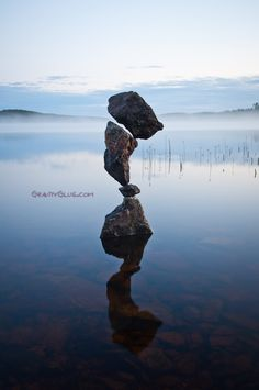 *Reflection of a Cairn (Gravity Glue)