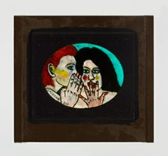 "Gregory Grenon- ""Telling a Secret"" oil on glass"