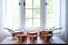 copper pots for your bridal registry