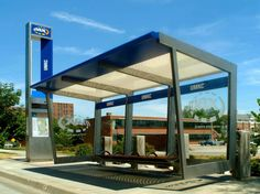 That's a nice bus stop. City Furniture, Urban Furniture, Street Furniture, Car Shelter, Bus Shelters, Retail Architecture, Architecture Design, Nice Bus, Bus Stop Design