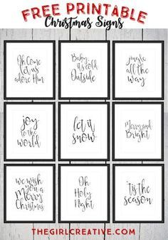 Free Printable Christmas Signs. Holiday WordsChristmas Decorating IdeasHoliday ...  sc 1 st  Pinterest & FREE Christmas Printables For Your Home | Pinterest | Free christmas ...