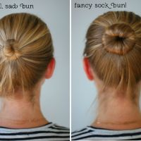An easier sock bun; if you hair is like mine (layered) and does not stay tucked under when you flip the normal sock bun; this looks easier An easier sock bun; if you hair is like mine (layered) and does not stay tucked under when you flip the normal sock… Bun Hairstyles, Pretty Hairstyles, Hairstyles 2016, How To Bun, Perfect Bun, Great Hair, Hair Dos, Hair Hacks, Hair Inspiration
