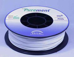 Antibacterial 3D printing filament, Purement, in White www.cleanstrands.com