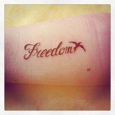 Freedom tattoo: Tattoo Ideas Freedom Wrist Tattoo Starlet Tattoos ...