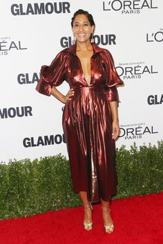 Tracee Ellis Ross Photos - Actress Tracee Ellis Ross attends Glamour Women Of The Year 2016 at NeueHouse Hollywood on November 2016 in Los Angeles, California. - Glamour Women of the Year 2016 - Arrivals Dope Fashion, Star Fashion, Street Fashion, Tracey Ellis, Tracee Ellis Ross, Glamour, L'oréal Paris, Her Style, Nice Dresses