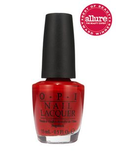 An intense, fire-engine hue, OPI Nail Lacquer in Big Apple Red manages to look both classic and trendy.
