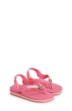 Havaianas 'Baby Brazil' Sandal (Baby, Walker & Toddler) available at #Nordstrom