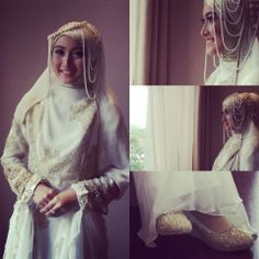 meyda sefira's wedding dress by irna mutiara #hijab #wedding #muslim #syari #indonesia #headpiece