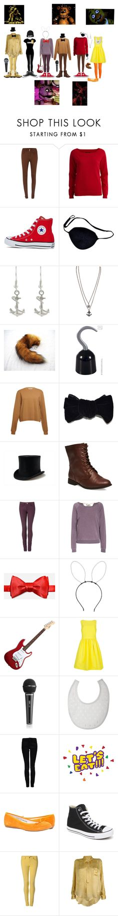 """""""FNAF"""" by lizziedacrazyginger ❤ liked on Polyvore featuring Salsa, VILA, Converse, Tressa, Acne Studios, Wet Seal, Tommy Hilfiger, Juvia, Topshop and Ted Baker"""