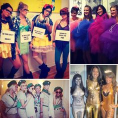 Girl Group Halloween Costumes-LOVE the hipster Disney princesses!