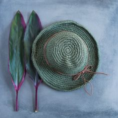Handmade Soft elegance hat is all you need this summer ❤️  #summerhat #summerstyle #green