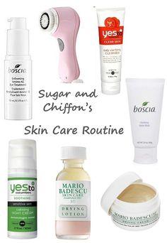 Skin Care Routine via Sugar and Chiffon