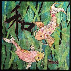 Peaceful Fish Gelli Collage- WOYWW #317
