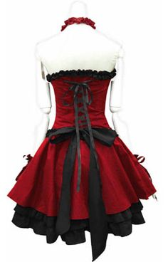 Red and Black Cosplay Dress