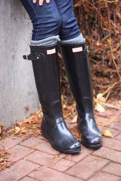Hunter Boots original tall gloss Because if anything my pair will be these black  wellies/hunters ❤️