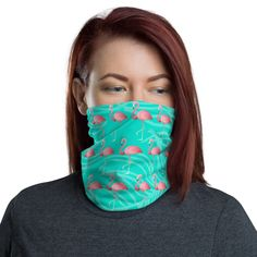 Flamingo Pattern Neck Gaiter / Face Mask This neck gaiter is a versatile accessory that can be used as a face covering, headband, bandana, wristband, and neck warmer. Upgrade your accessory game and find a matching face shield for each of your outfits. Flamingo Pattern, Flamingo Print, Flamingo Gifts, Head Wrap Headband, Pineapple Pattern, Neck Warmer, Head Wraps, Fabric Weights, Pink And Green