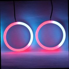 49.00$  Buy here - http://alitto.worldwells.pw/go.php?t=32779979809 - Revolving Lamp Cotton RGB Angel Eyes Light Revolving Angel Eyes LED Rolling Lights DRL For Headlights Fog Lamp Motorcycle - 2PCS 49.00$