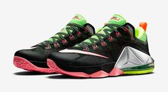 bfab51c2918 Release Date  Nike LeBron 12 Low  Black Green Strike