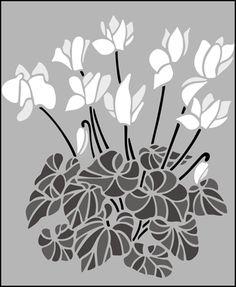 Garden Room Cyclamen  stencils, stensils and stencles