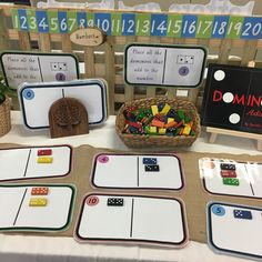 We love using dominos to support the skill/learning of addition, partitioning and subitising. Numicon Activities, Kindergarten Math Activities, Teaching Math, Year 1 Maths, Early Years Maths, Maths Eyfs, Preschool Classroom, Emergent Curriculum, Reception Class