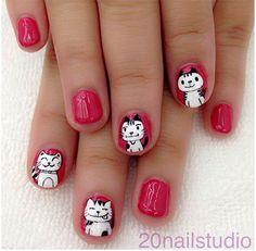 ART+nail+2015 | ... Ideas 2013 2014 1 Easy Cat Face Nail Art Designs & Ideas 2014/ 2015