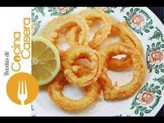Aros de cebolla caseros. Receta fácil y Vídeo   Recetas de Cocina Casera - Recetas fáciles y sencillas