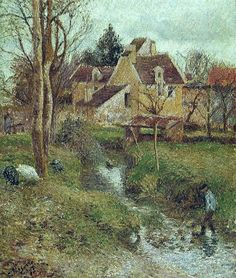 The Brook at Osny, 1883. Camille Pissarro