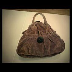 Anthropologie velvet bowling bag Detail : Mauve velvet + dirty gold pattern. Antique brass zipper / metal protection feet. Zipper closure. 1 inner zippered pocket/ 1 outside pocket with button detail Anthropologie Bags